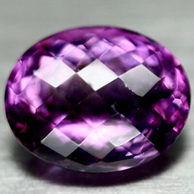 14.51 Ct Natural! Purple Clr Change To Pink Brazilian Amethyst Oval