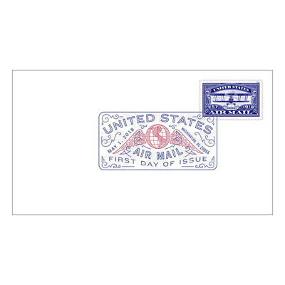 USPS New United States Air Mail (Blue) Digital Color Postmark