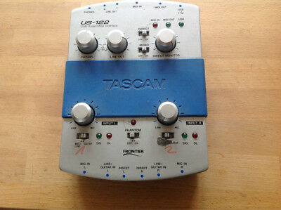 TASCAM US-122 Audio/Midi Interface, USB,