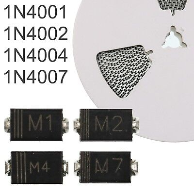 SMD Diodes 1N4001, 1N4002, 1N4004, 1N4007 - DO-214 1A Rectifier Diodes