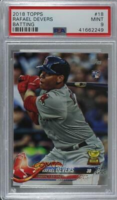 2018 Topps 18.1 Rafael Devers (Batting) PSA 9 MINT Boston Red Sox RC Rookie Card