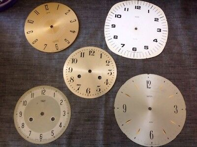 Antique Smiths Clock Dials Faces 147 - 187mm From Clockmakers Spare Parts