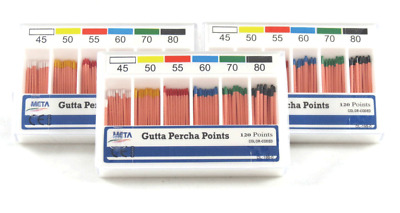 House Brand GP45-80 Gutta Percha Root Canal Points Vials 120/Pk #45-80
