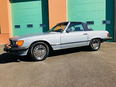 1980 Mercedes-Benz SL-Class 450SL ILVER BLUE METALLIC OVER NAVY BLUE, BOTH TOPS, RARE BACKSEAT OPTION, GORGEOUS!