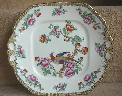 Antique English Whieldon Ware F. Winkle & Co Porcelain PHEASANT Sandwich Platter