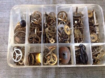 Antique Clock Parts Cogs Wheels Ex Clockmakers Spare Parts Collection