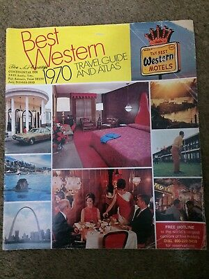 1970 Best Western Travel Guide And Atlas