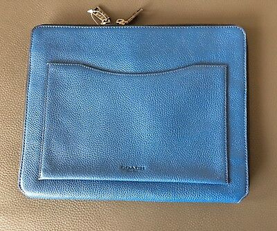 NWOT COACH TECH CASE In Pebble Leather Denim Zip Around 64264 MSRP: $150