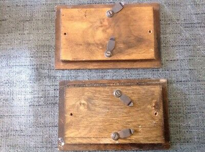 Antique Wooden Clock Doors Case Parts 120x77mm