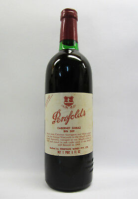 Penfolds Bin 389 Cabernet Shiraz 1967 Red Wine Clinic