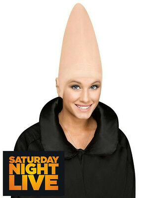 SNL Latex Conehead Cone Bald Head Cap Headpiece
