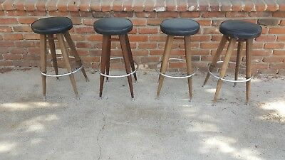 Bar Stools 1960s Mid Century Swivel Counter  Calorator Set of 4