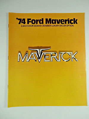 1975 Ford Maverick 2 and 4 Door Sedans Grabber Car Dealership Sales Brochure