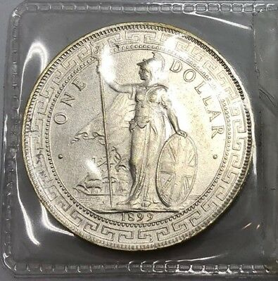 Silver Great Britain Trade Dollar 1899 AU-UNC (147)