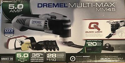 Dremel Multi-Max 5 Amp Oscillating Tool MM45 Variable Speed Corded+28 Accessory