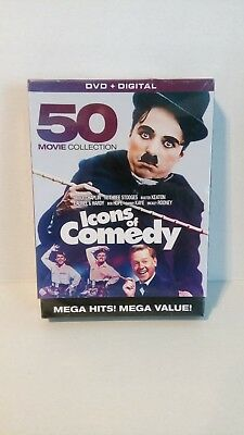 Icons of Comedy: 50 Movie Collection (DVD, 2016, 10-Disc Set) New Sealed