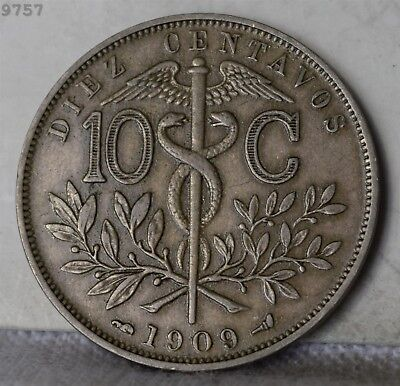 "1909 Bolivia 10 Centavos ""XF+"" *Free S/H After 1st Item*"