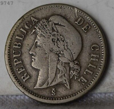 1871 Chile 1 Centavo *Free S/H After 1st Item*