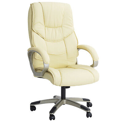 Modern Office Chair Swivel Racing Adjustable Leather High Back Home