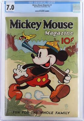 Mickey Mouse Magazine #7 - CGC 7.0 FN/VF - Walt Disney 1936 - HIGHEST GRADE!!!