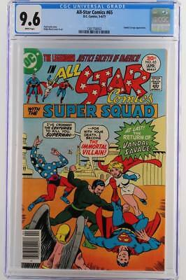 All-Star Comics #65 -NEAR MINT- CGC 9.6 NM+ DC 1977 - A Vandal Savage App!!!