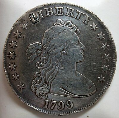 1799 Draped Bust Silver Dollar * Very Fine Early Type Coin * FREE SHIPPING