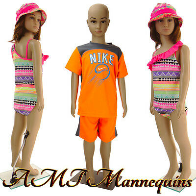 Girl/ Boy Mannequins+stand,Christmas display, plastic doll,1 child manequin-CB1