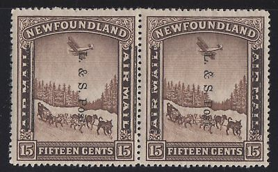MOTON114     #211i pair Newfoundland Canada mint one stamp WTK, one stamp no WTK