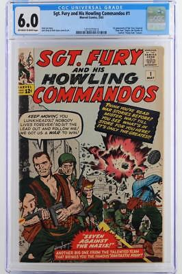 Sgt. Fury #1 - CGC 6.0 -Marvel 1963- 1st App of Sgt. Nick Fury & The Howlers!!!