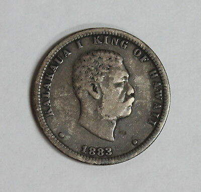1883 Kingdom of Hawaii Silver Quarter - Scarce & Highly Collectible