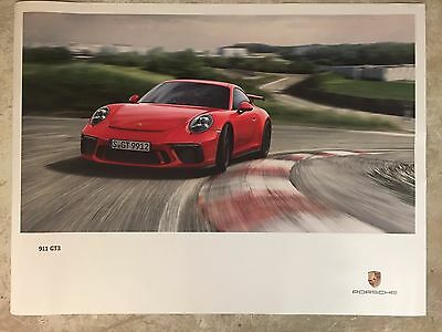 2017 Porsche 911 GT3 Showroom Advertising Sales Poster RARE!! Awesome L@@K