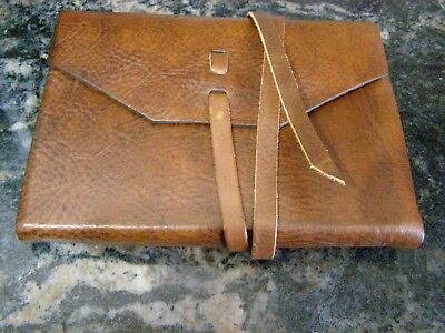 Leatherbound Notebook/Journal (blank pages) - rustic dark brown leather