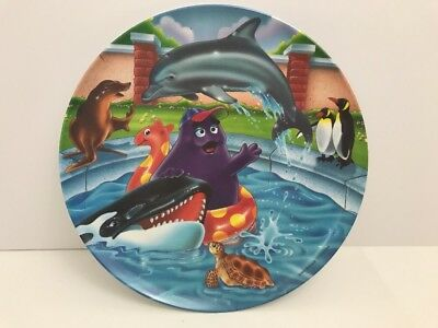 Vintage Collectible McDonalds Melamine Plate 1996 Grimmace Swims with Dolphin