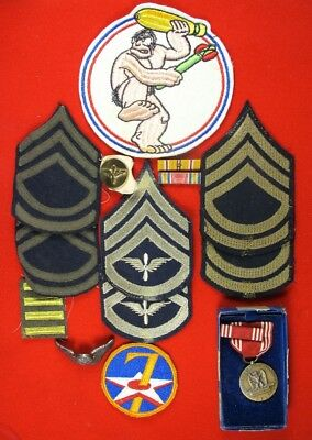 WWII US Army 7th Air Corps 820th Bombardment Squadron Grouping South Pacific