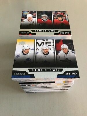 2013-14 Upper Deck Series 1&2 Complete Base Sets - 400 Cards!!