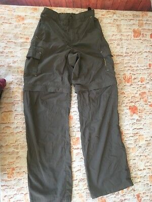 Youth Columbia Convertable Hiking Pants With Zip Off Legs Size 14/16 Beige