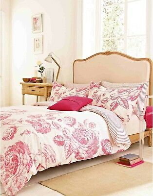 Joules Kensington Pink Fl King Size Bedding Set 2 Housewife Pillow Cases