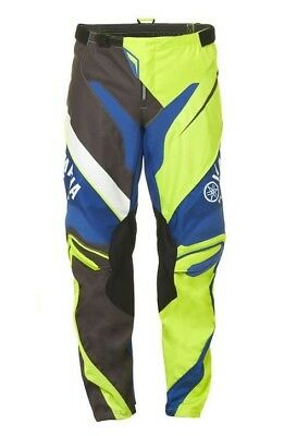 Yamaha Racing MX Pants Adults Green Blue Black Motocross Pants #A17-GP100-G1