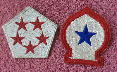 (2) Scarce & Original WW2 Military Patches incl. 5th Army (Cpl Poma collection)