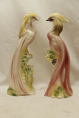 Vintage Pair Of Pink Flamingos By Mccullough Mcm Mid Century Modern Collectible!