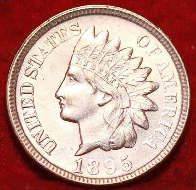 Uncirculated Red 1895 Philadelphia Mint Indian Head Cent
