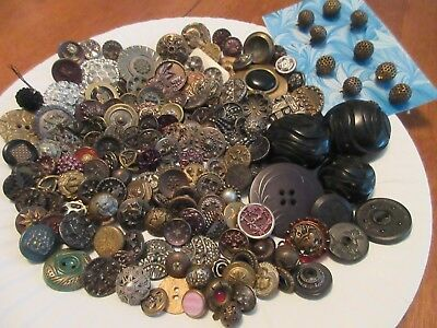 antique,vintage,buttons,MOSTLY SMALL METAL,PRETTY LOT,perfume,mirror,,