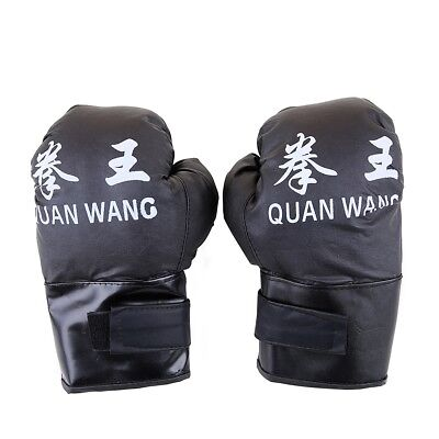 16 OZ BOXING PRACTICE TRAINING GLOVES Sparring Faux Leather Red Black  2 PAIRS