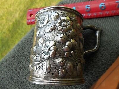 S Kirk & Son 11oz Christening Cup Coin Silver CH Coster Gerard Philip B K Potter