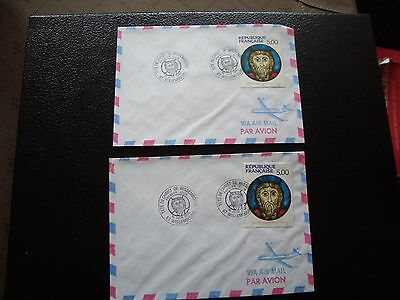 FRANCE - 2 envelopes 1st day 16/6/1990 (christ wissembourg) (cy94) french