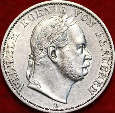 1866 German States Thaler Silver Foreign Coin