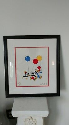 """Party Pals"" Walter Lantz Deluxe Seriograph COA:Chilly Willy, Andy Panda & Woody"