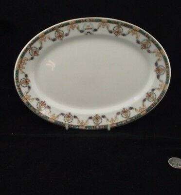 "The Mandarin Wm Guerin Co. Limoges France 11"" Platter Hotel Or Restaurant"