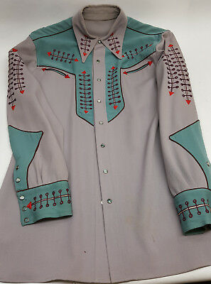Cowboy Country Western custom shirt made Nudie's Rodeo Taylors North Hollywood