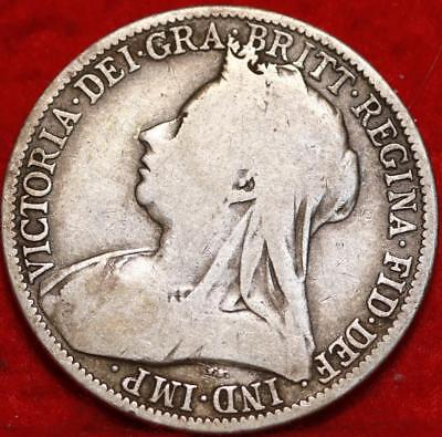 1894 Great Britain Two Shillings Silver Foreign Coin